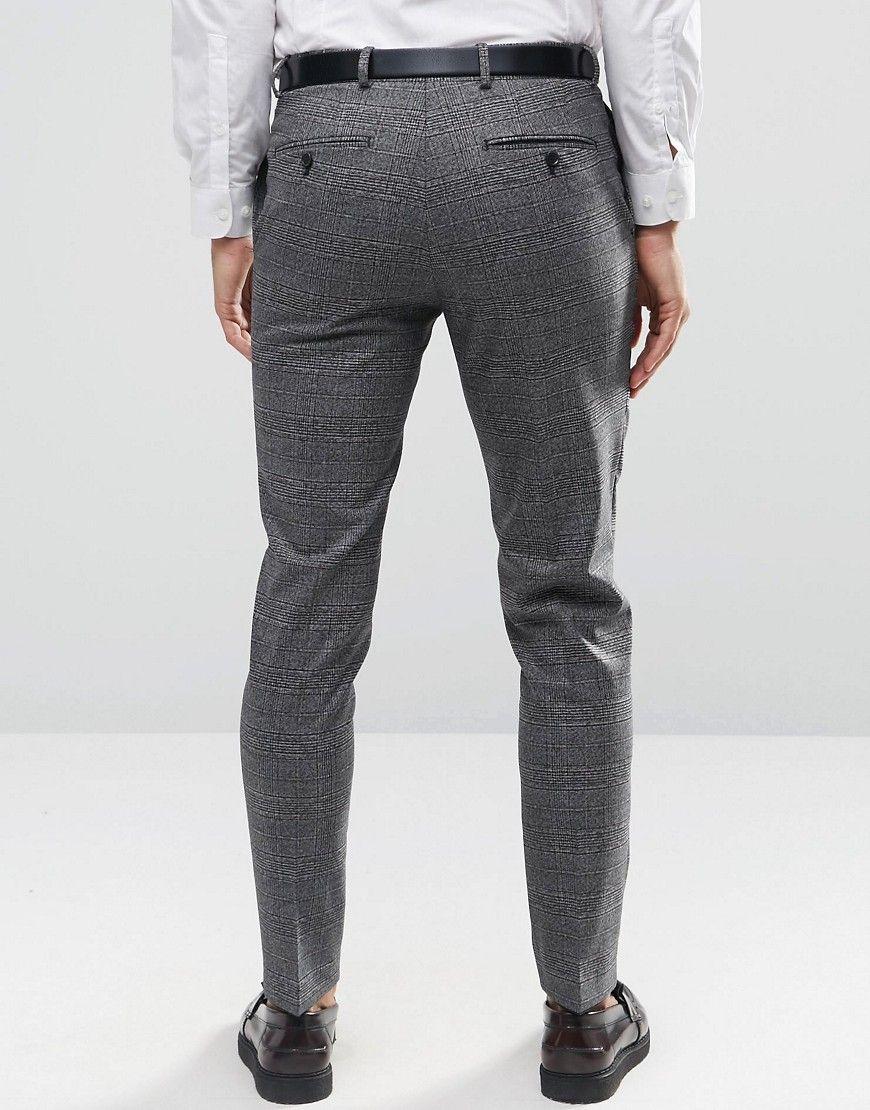 Image 2 Of Jack Jones Premium Smart Trouser In Pow Check Skinny Suit Pants Skinny Suits Jack Jones
