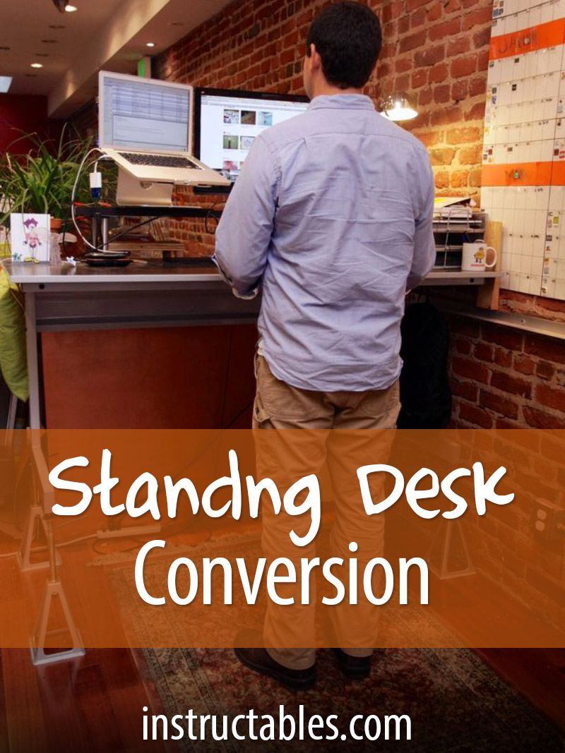 """I recently switched to a standing desk at work and used a set of affordable and simple screw jacks to raise my desk to the proper height. Full adjustable from 11"""" to 17 3/4"""", these jack stands will raise any normal desk to standing desk height for people between 5' 3"""" and 6' 1""""."""
