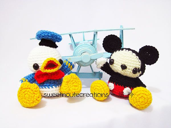 Baby Donald Duck + Baby Mickey Mouse Amigurumi Pattern