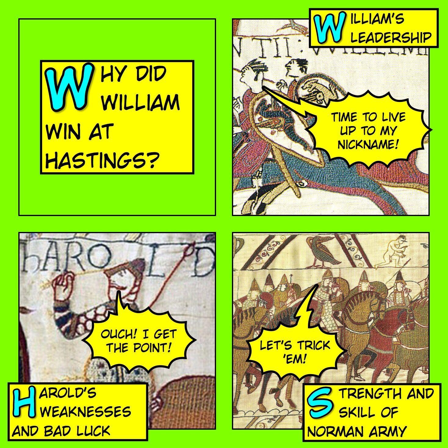 worksheet Battle Of Hastings Worksheets Ks2 why did william win at hastings comic strip key stages and school strip