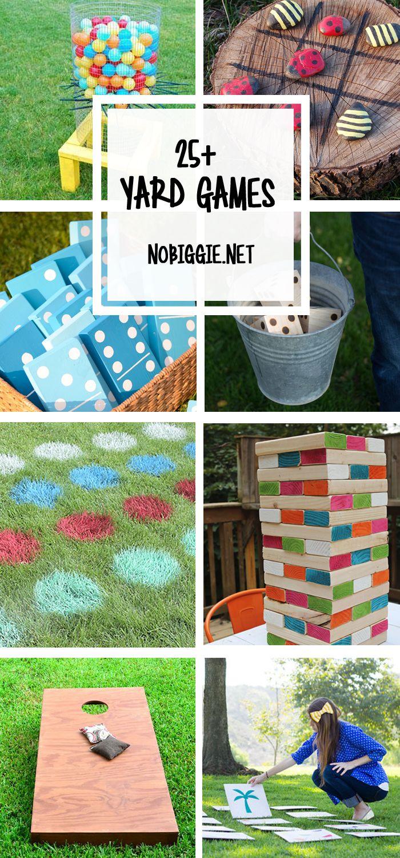 25 Yard Games Diy Yard Games Backyard Games Backyard Fun