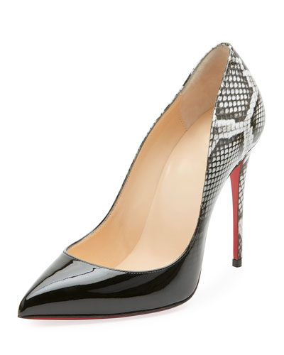 8e1d34b6300b Christian Louboutin Pigalle Follies Ombre Snake-Print Red Sole Pump ...