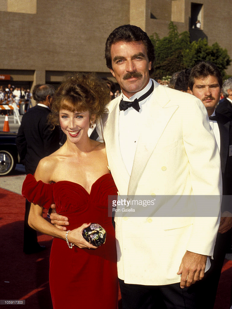 Tom attends the 38th annual emmy awards with actress for Hannah margaret mack selleck photo