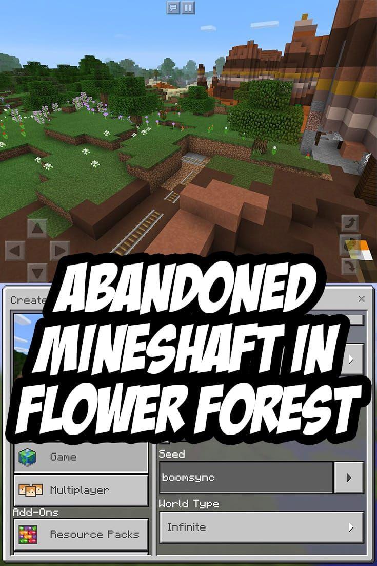 Mesa mineshaft invades flower forest biome mcpe seedboomsync