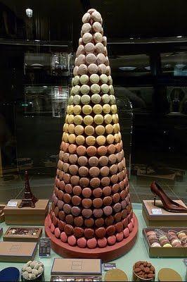 The Newfangled Bride Ooh La La The Croquembouche Croquembouche Macaron Tower Macarons