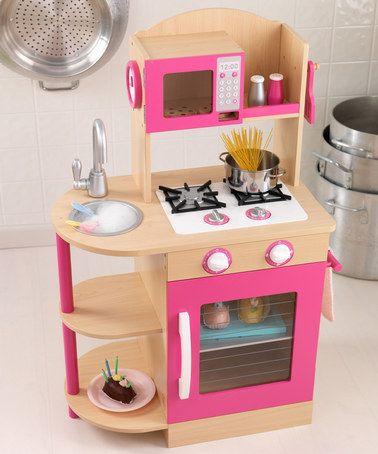 Natural U0026 Pink Kitchen Set By KidKraft #zulilyfinds