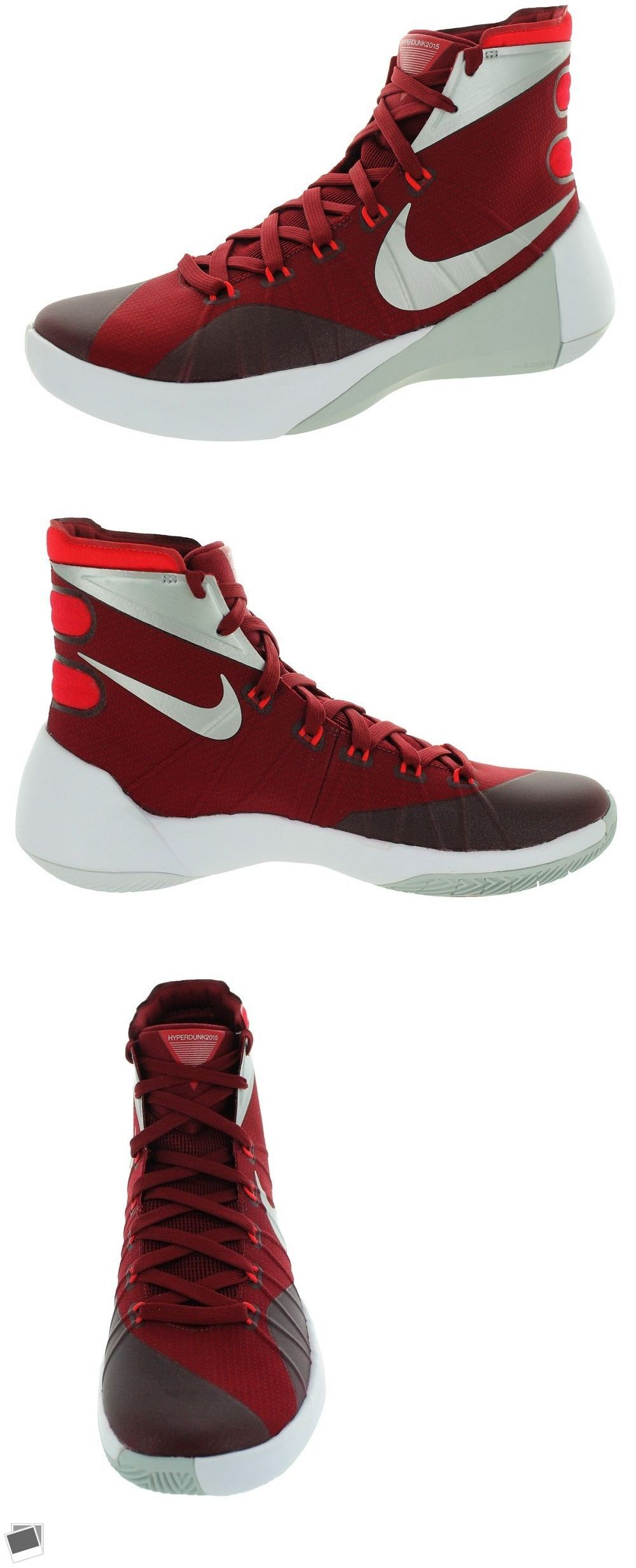free shipping ab7ba 74c91 Men 158971  Nike Mens Hyperdunk 2015 Tb Basketball Shoe 749645 606 Red  Silver