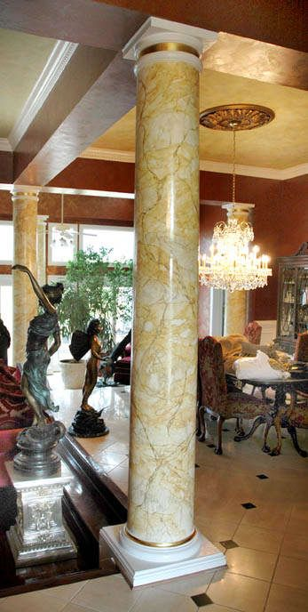 Wondrous Columns Finished As Marble With Venetian Plaster Columns Home Remodeling Inspirations Gresiscottssportslandcom
