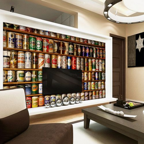Find More Wallpapers Information About Beer Bottle Vintage Photo Murals Wallpaper Custom Mural Abstract Living Room Ktv Bar Wall Art Decor