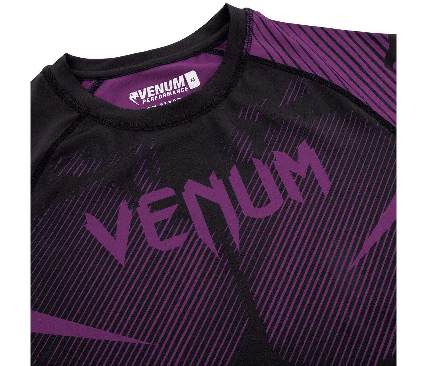 Black-S Venum Nogi 2.0 Rashguard Short Sleeves Black Small