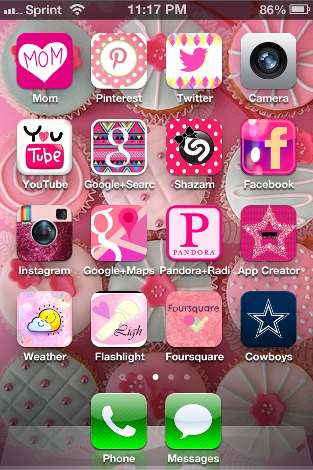 Soo cute! Use the free app CocoPPa Iphone icon, Phone