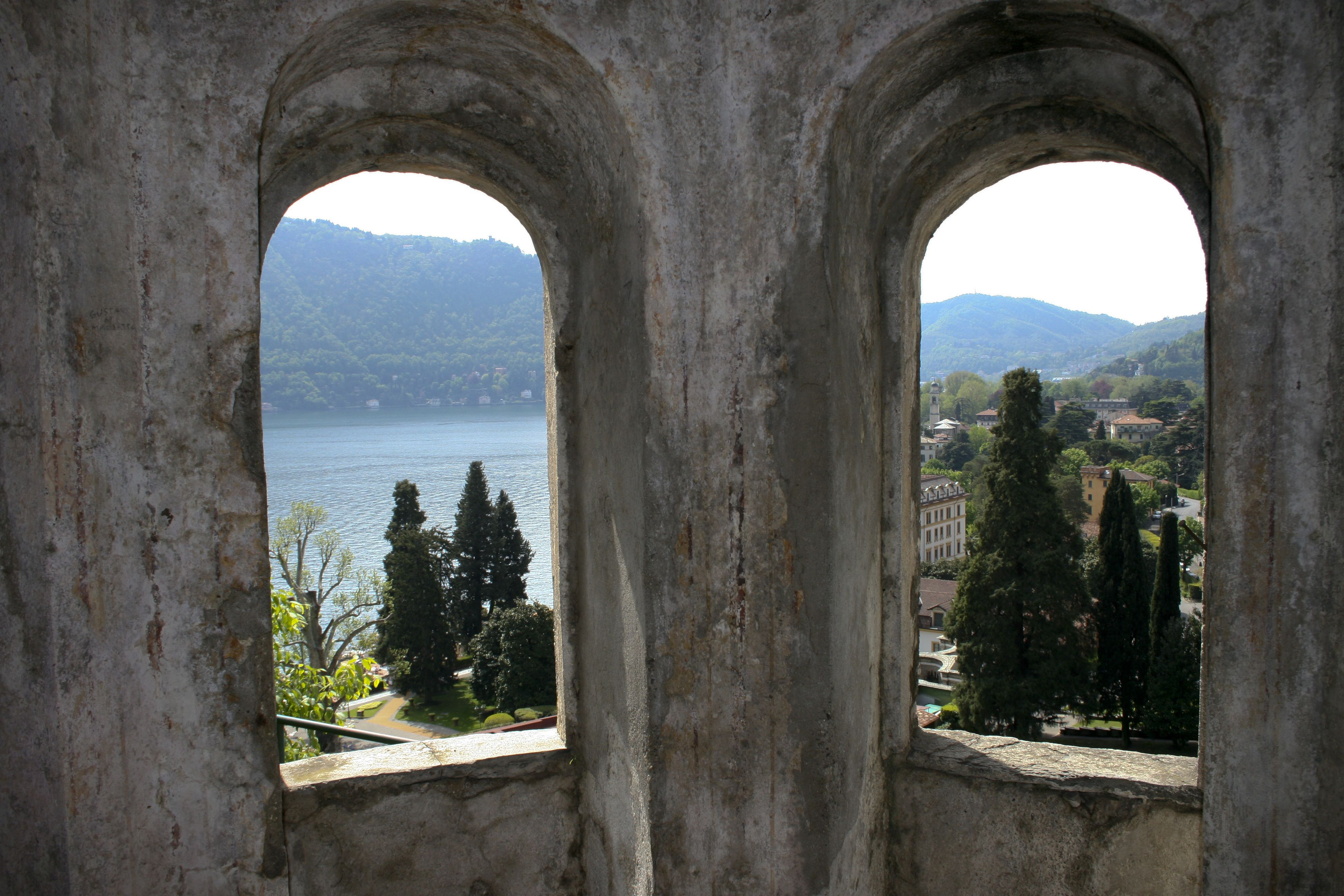 View from Inside the ruins overlooking Lake Como. www.joegrillomusic.com