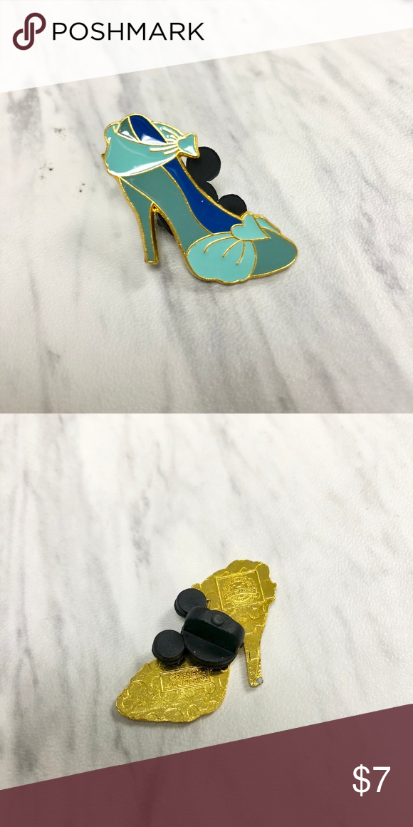 a216e907e0a06 Cinderella Shoe Disney Pin All pins come with a Mickey backing and ...