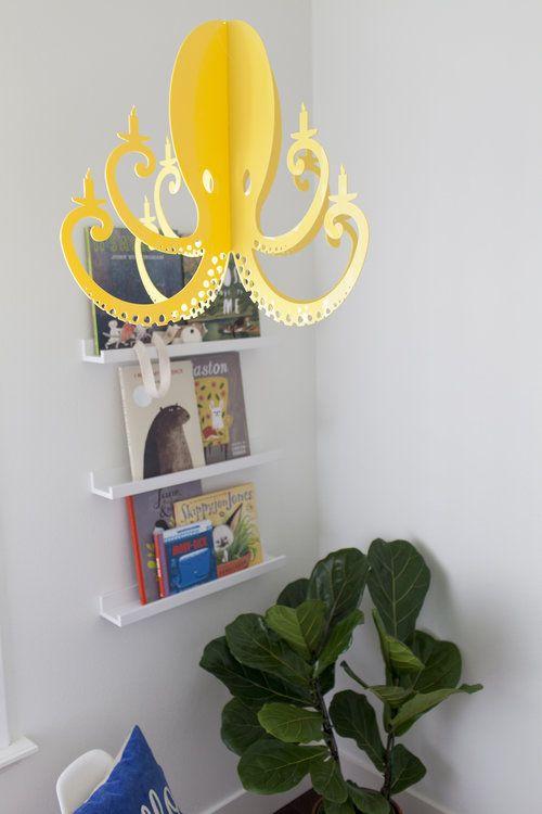 Yellow Octopus Chandelier By NK Kid\u0027s Room Kids Pinterest - designer arbeitstisch tolle idee platz sparen