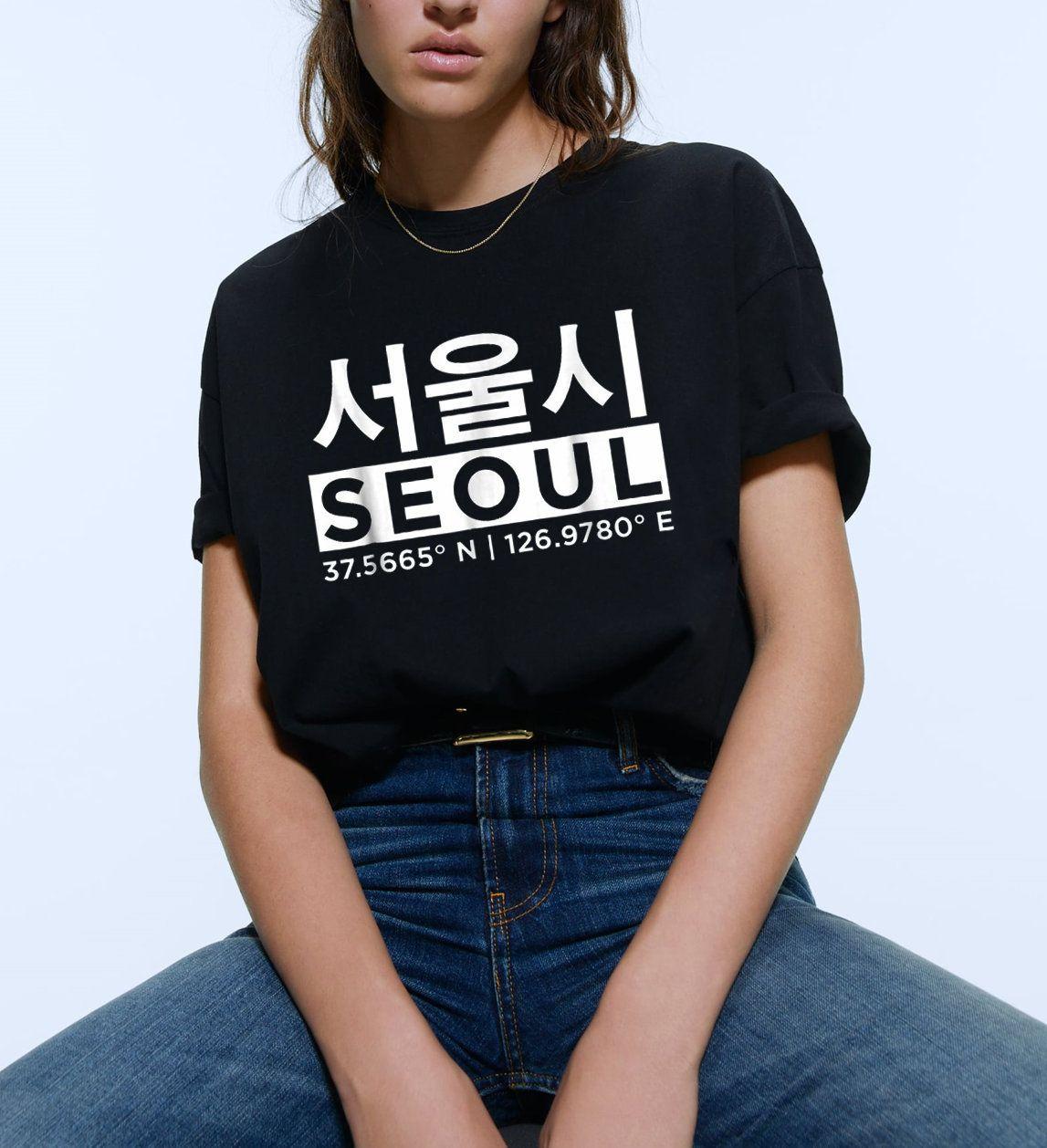 Seoul Korea Tshirt,Seoul Handwritten t-shirt, Seoul Korea Shirt