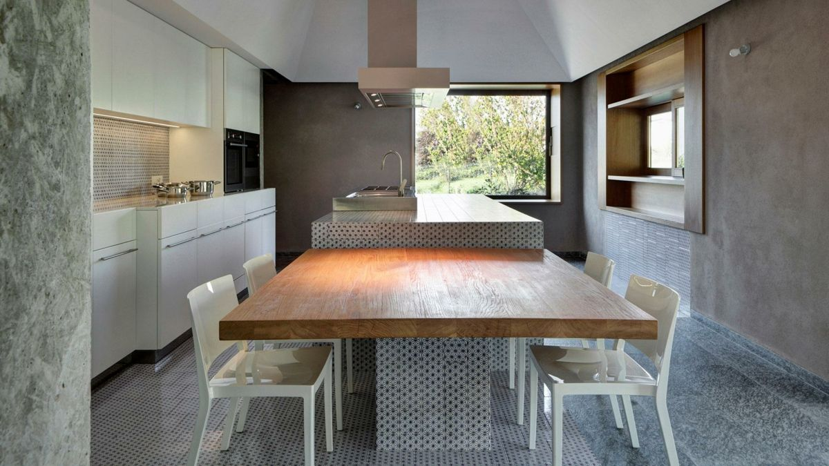 innovativ k cheninsel angrenzend esstisch k che pinterest k che k che mit insel und. Black Bedroom Furniture Sets. Home Design Ideas