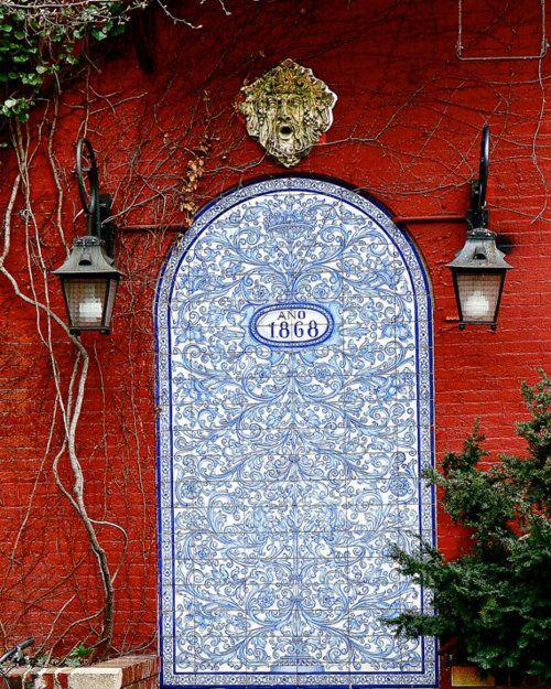 NYC West Village painted door