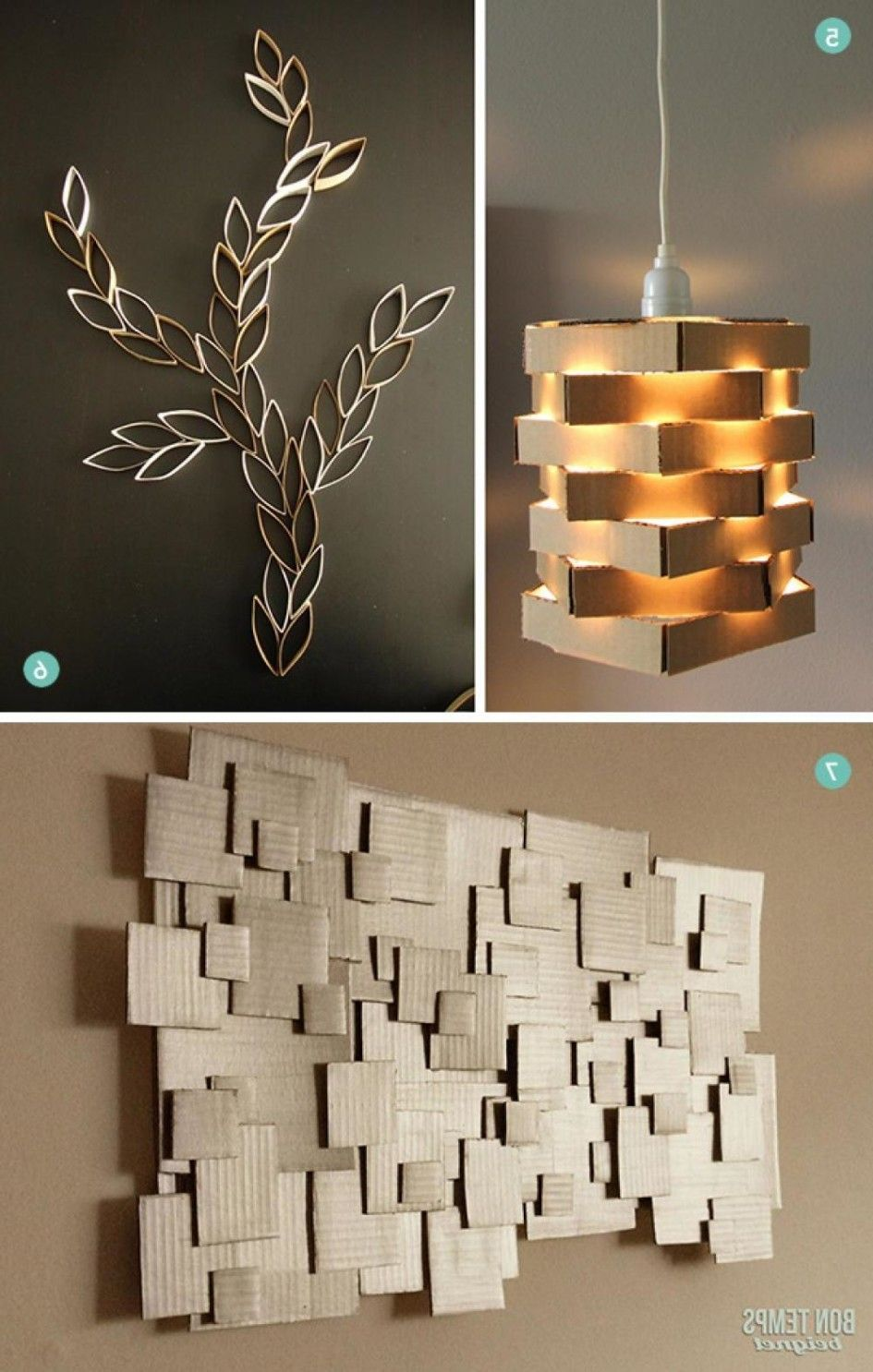 Amazing Modern Wall Decoration Design Ideas To Beautify Space DIY Cardboard Pendant Light