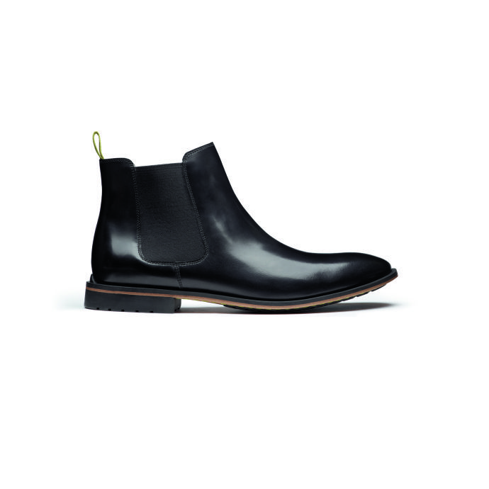 CLARKS Gately Top Black Leather
