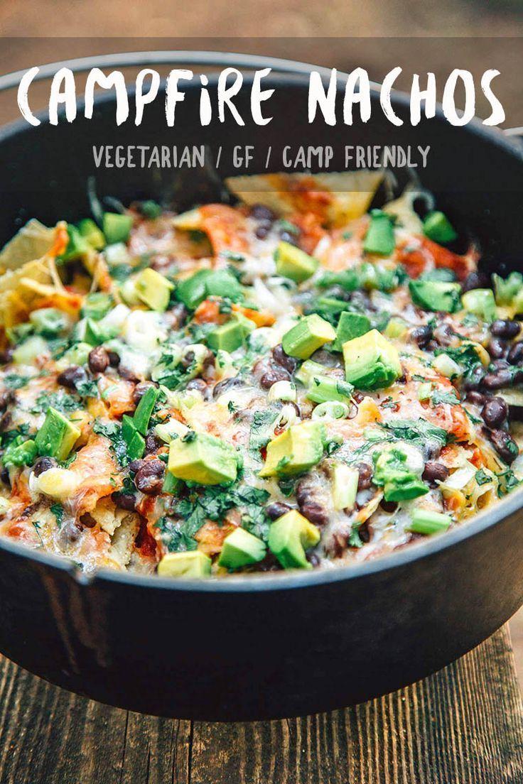 Campfire Nachos Recipe Campfire Food Vegetarian Camping Food