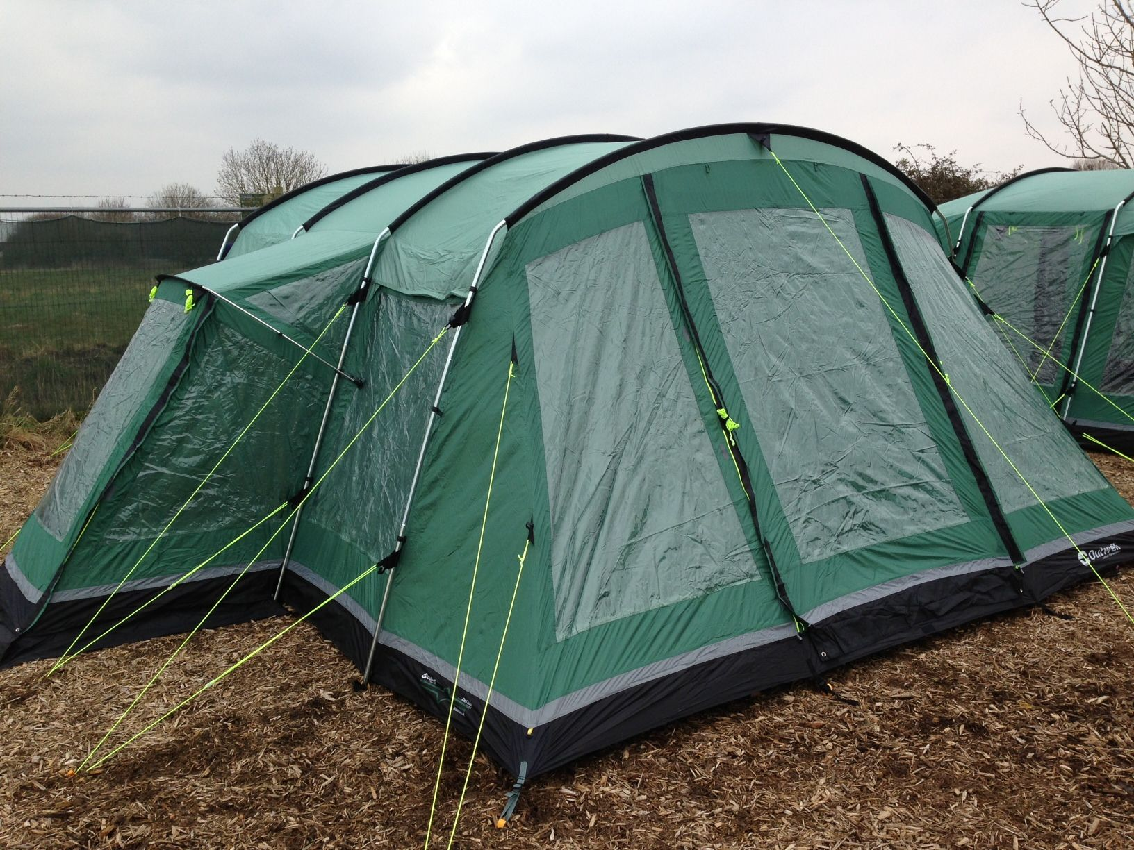 Outwell Montana 6 at Sanders tent display in new Foliage Green colourway! & Outwell Montana 6 at Sanders tent display in new Foliage Green ...