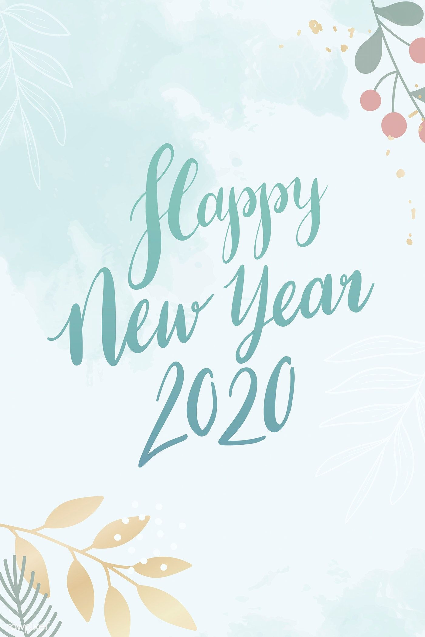 Happy New Year 2020 Card Vector Premium Image By Rawpixel Com Kappy Kappy Happy New Year Calligraphy Happy New Year Background New Year Background Images
