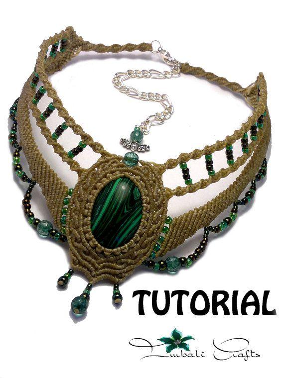 TUTORIAL  Olive green baroque necklace  Malachite baroque