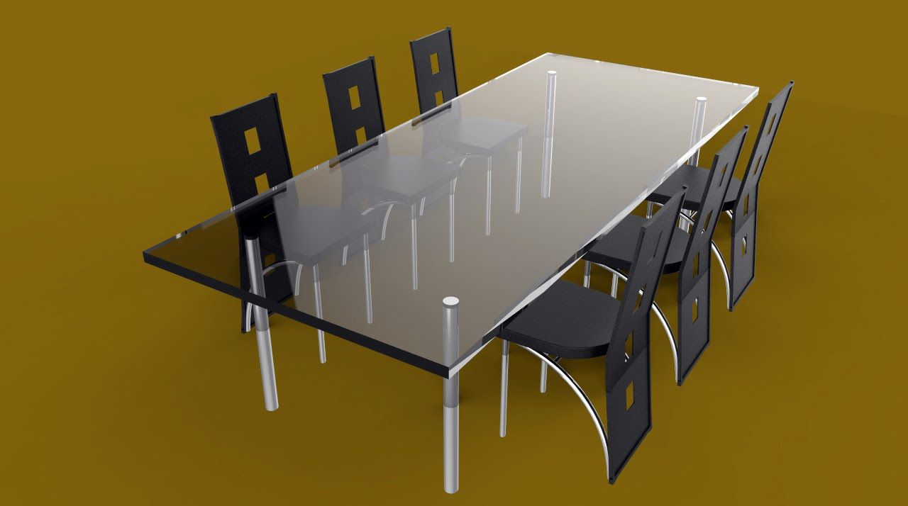How To Model A Full Dining Table Set In Maya 2016 Full Tutorial Dining Table Setting Dining Table Home Decor