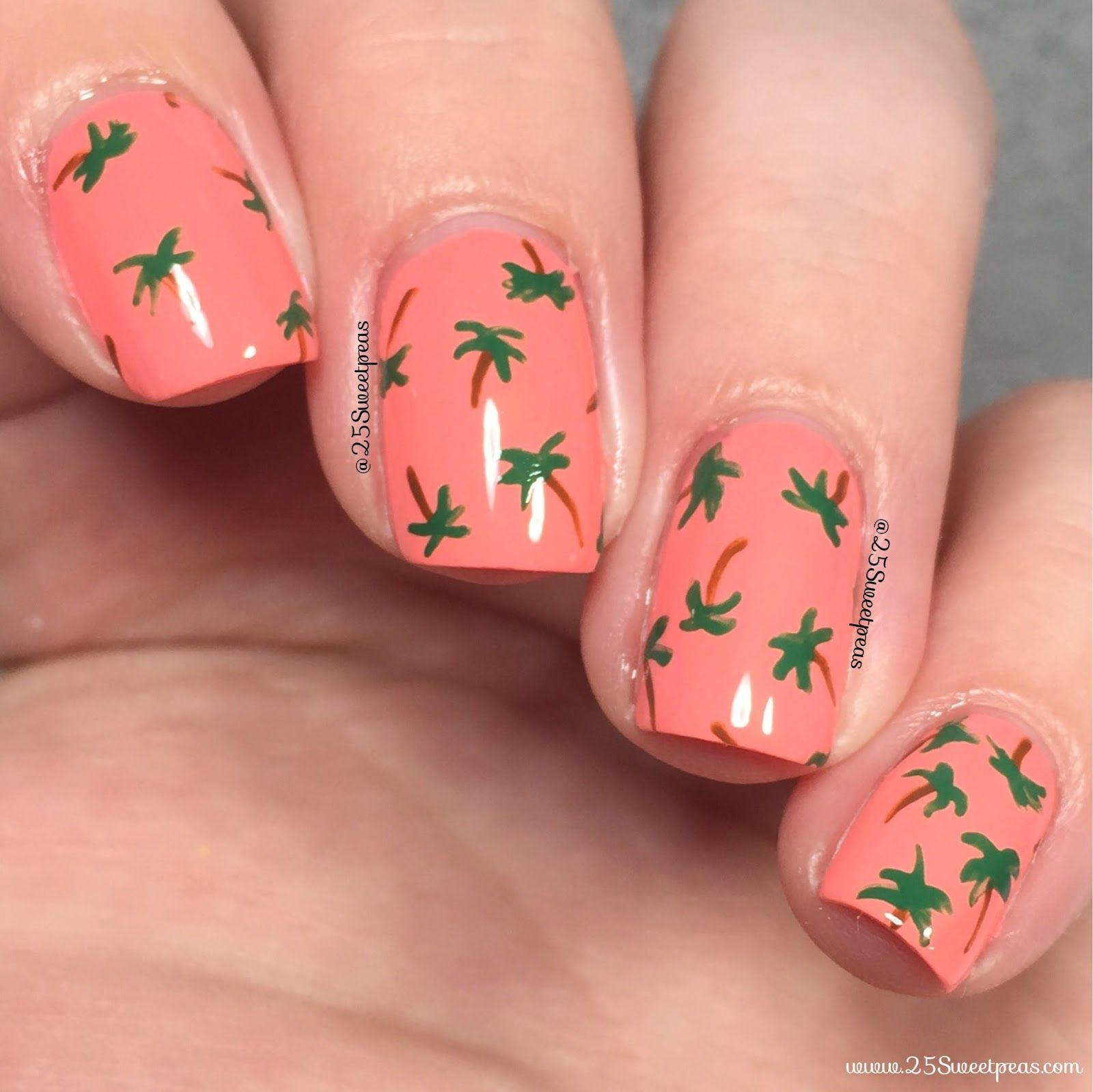 Palm Tree Nail Art | Digital Dozen | Paper Day 4 - 25 Sweetpeas ...