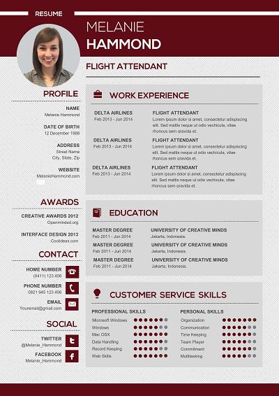 Auriparus Functional resume template, Functional resume
