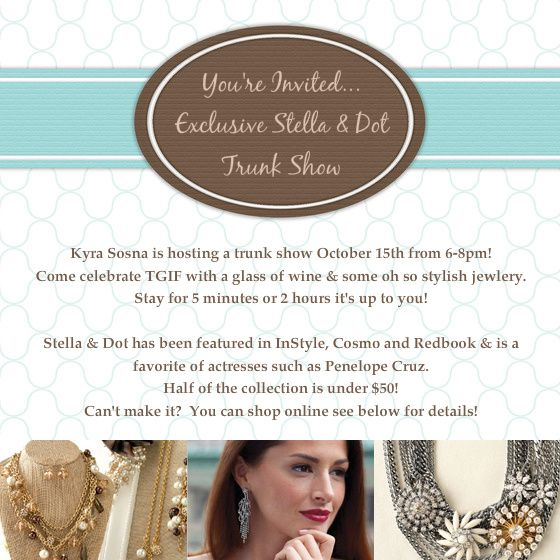 Stella and dot trunk show invitations stella and dot for Stella and dot invitation templates