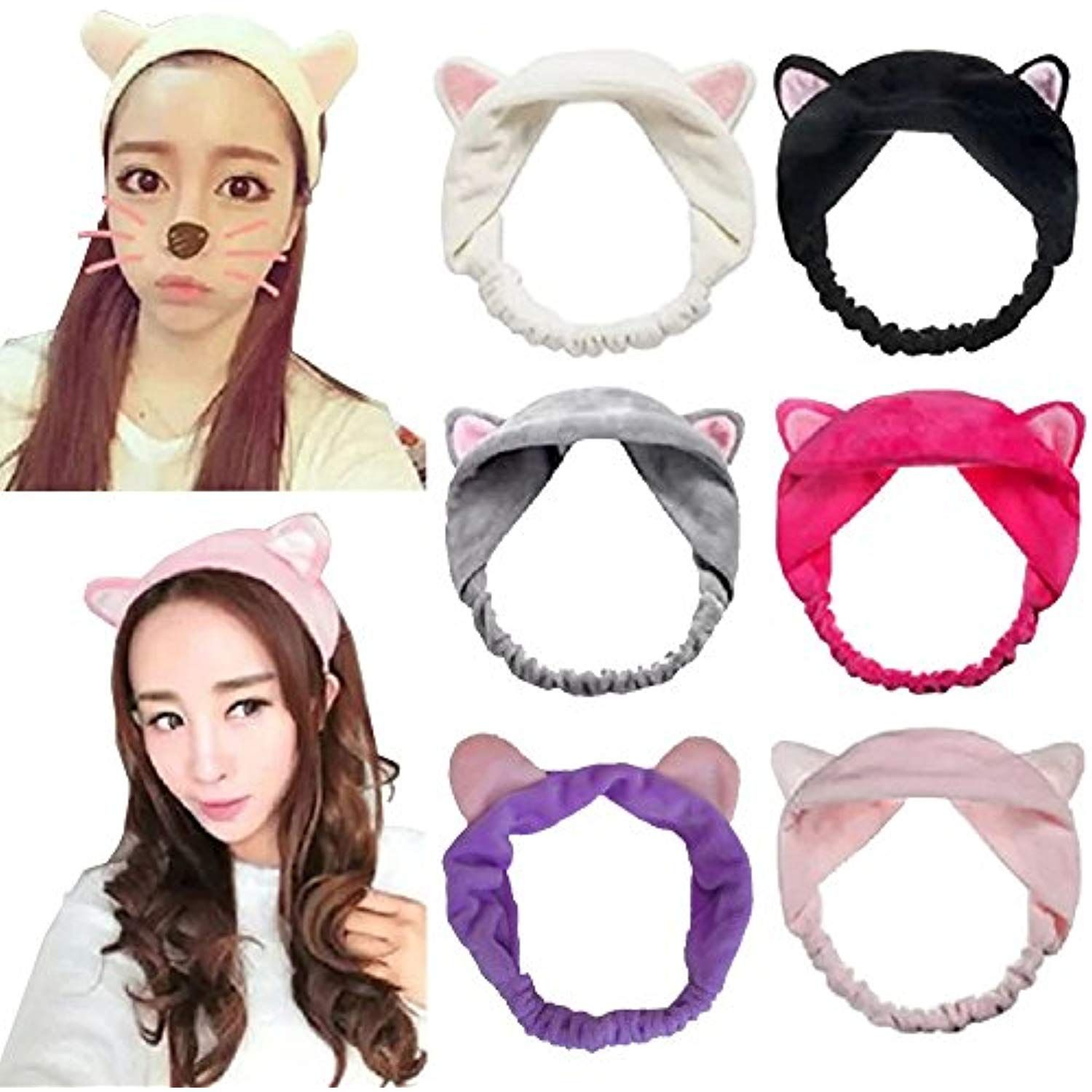 DRESHOW 6 Pack Women 6pcs Cute Cat Ear Hair Band For Women