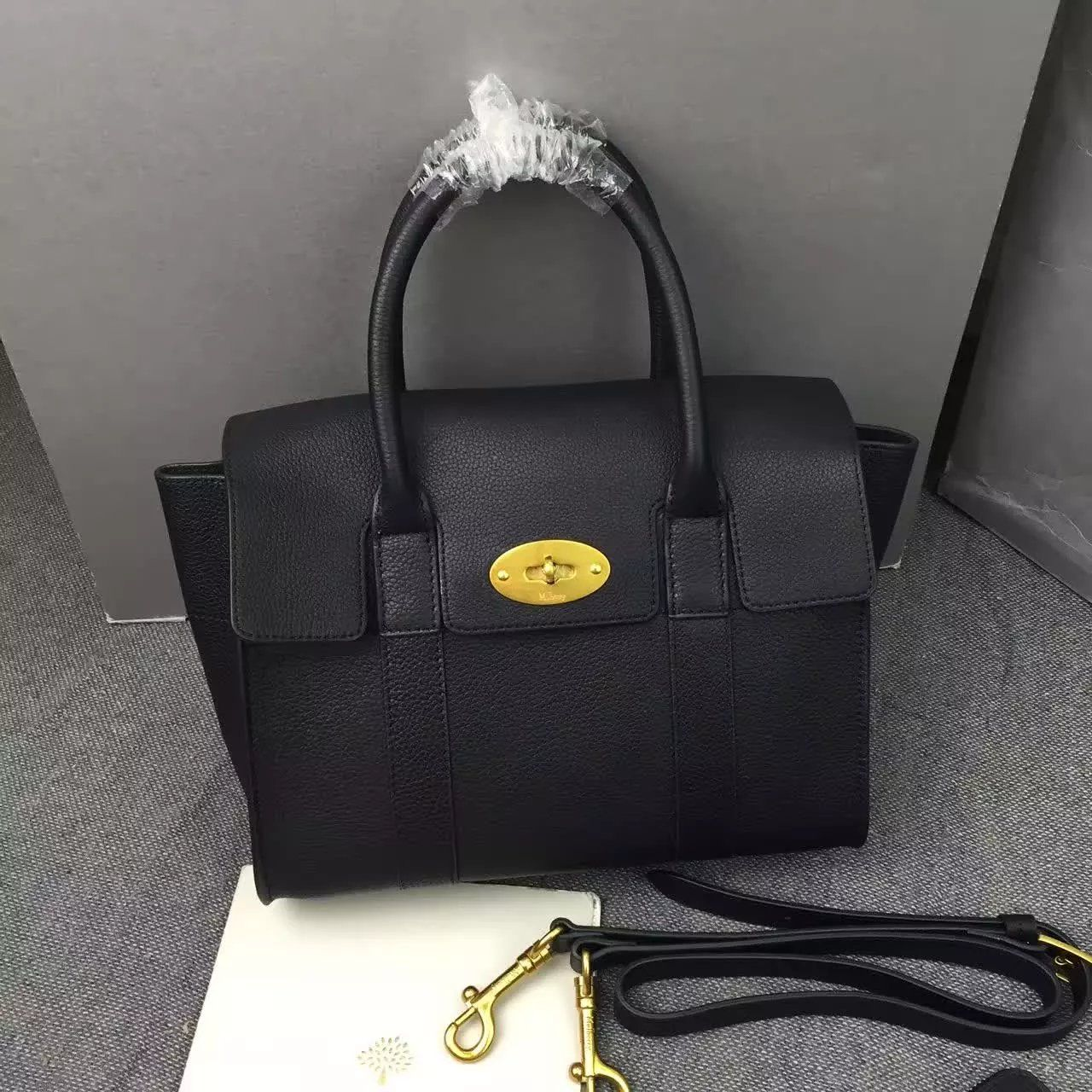 New Edition 2017 Mulberry Handbags Collection Outlet Uk Small Bayswater Black Natural Grain Leather