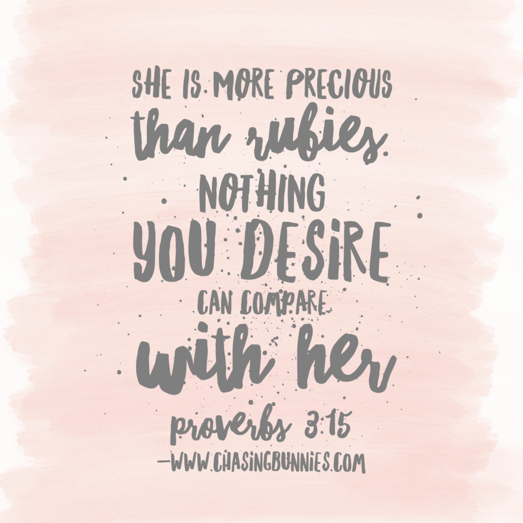 She is worth far more than rubies and pearls meaning