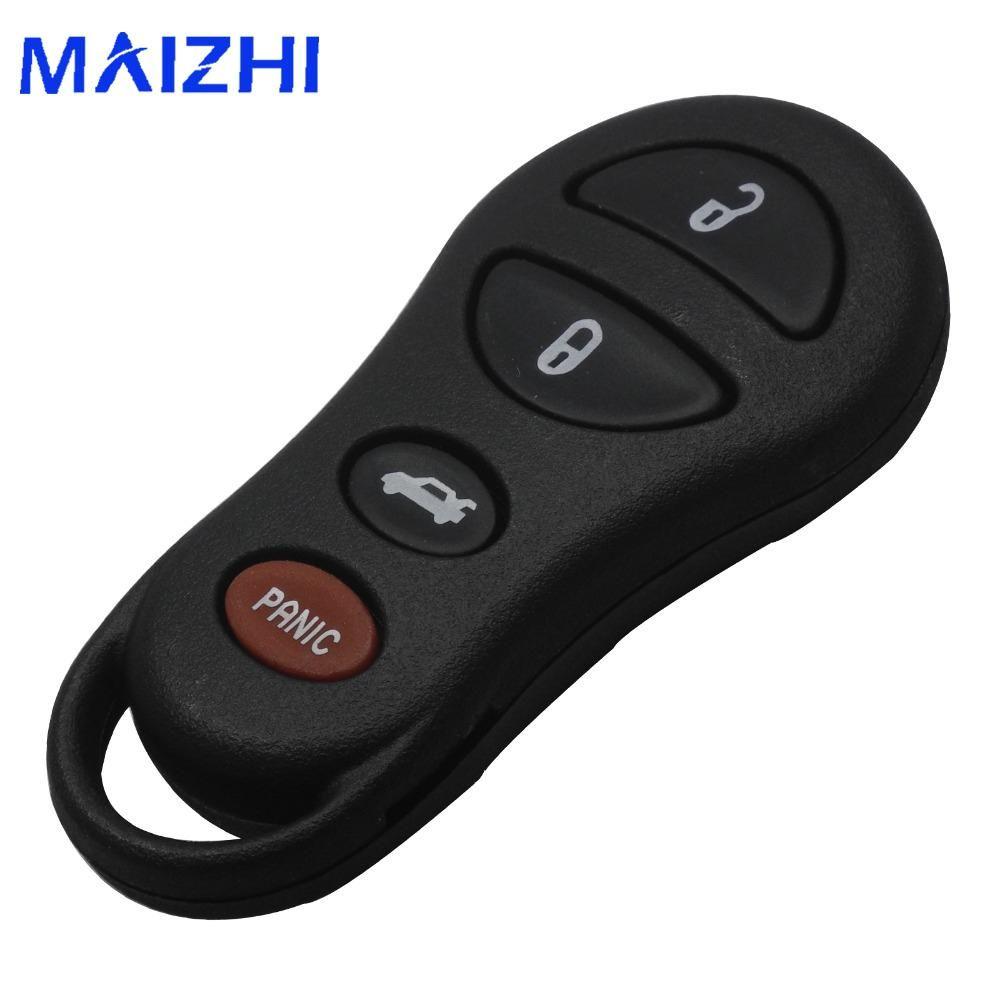 Jingyuqin 4 Button Keyless Entry Remote Flip Fob Car Key Case Pad
