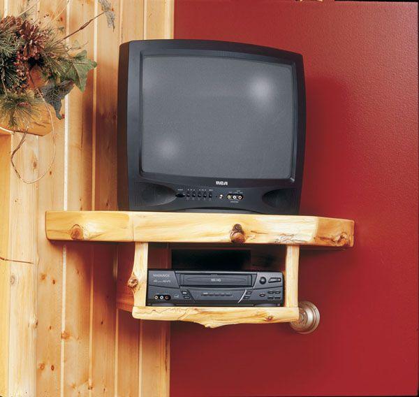 mounting strip under tv shelf for rigid support. Black Bedroom Furniture Sets. Home Design Ideas