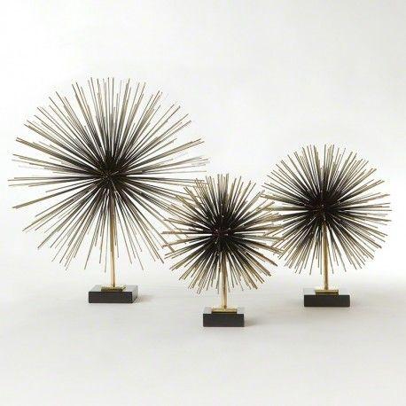 Buy Boom Tabletop Sculpture Brass Med Emonili Global Views Mid Century Antiques Decor