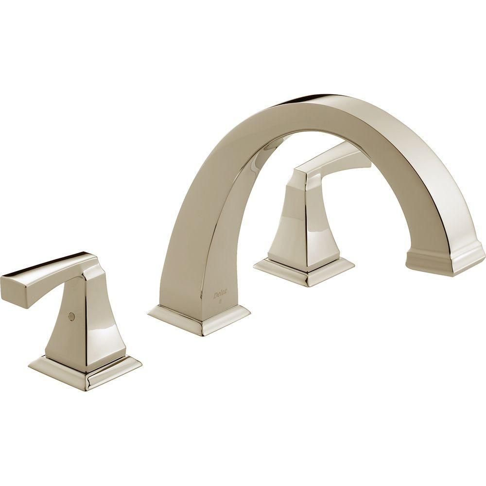 Delta Dryden 2-Handle Deck-Mount Roman Tub Faucet Trim Kit Only in ...