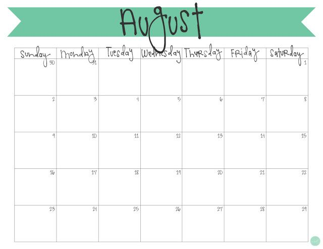 Blank Two Month July August 2021 Calendar Printable Template