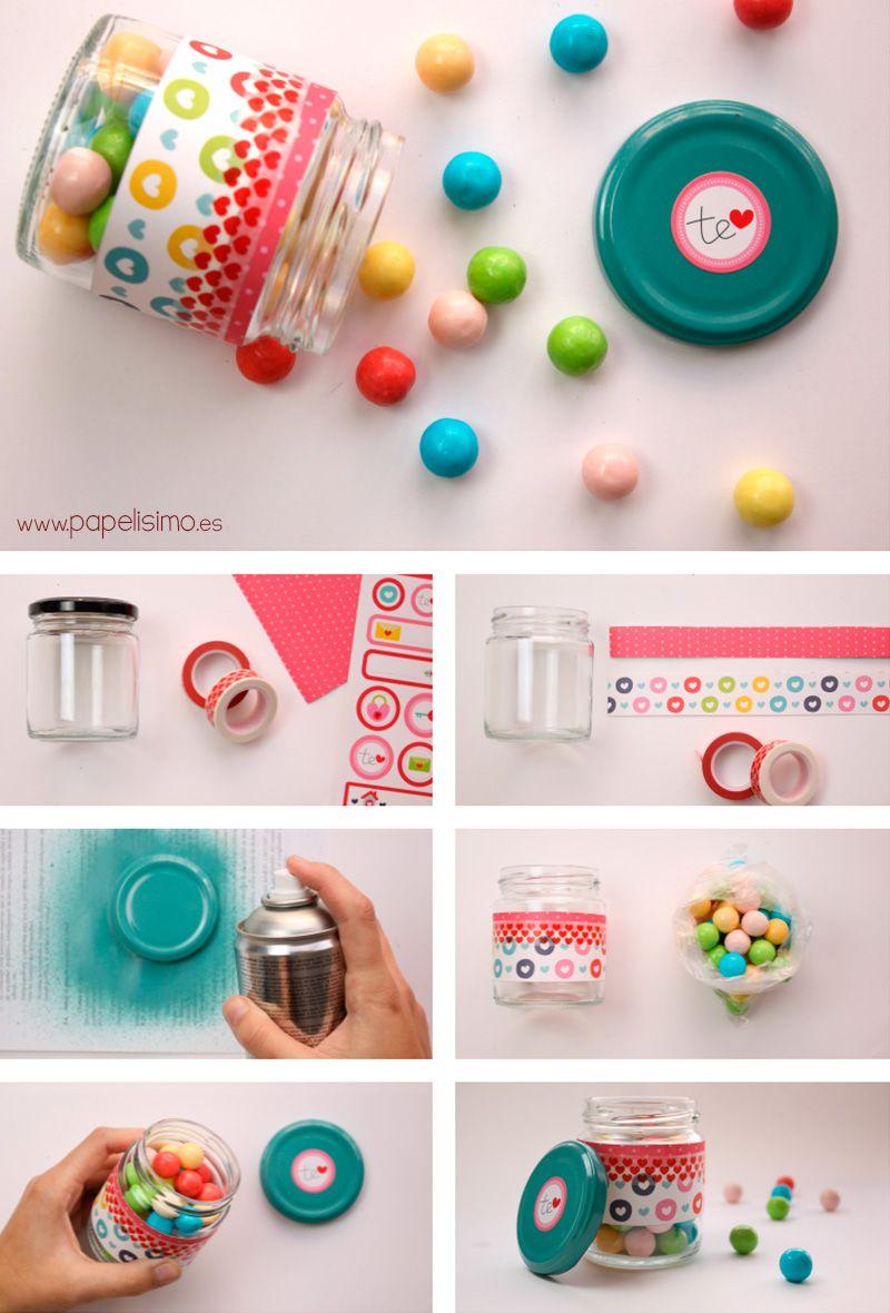 Como-decorar-tarro-para-caramelos-candy-jar | Original niño ...