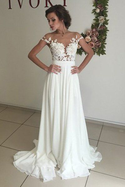 Simple Beach Wedding Dress Dresses For Brides Bridal Gown 0001