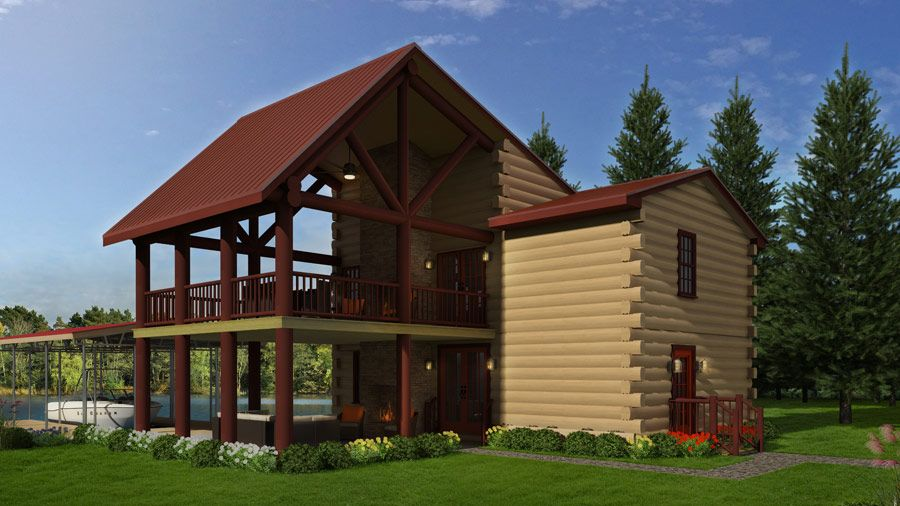 Most Intriguing Log Home You Ll Ever See The Party House Log Cabin Http Bit Ly The Party House Lo Log Homes Log Cabin Floor Plans Bungalow House Design