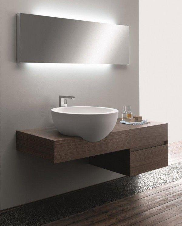 Bathroom Furniture Modern Minimalist Wood Lighting Design Ideas