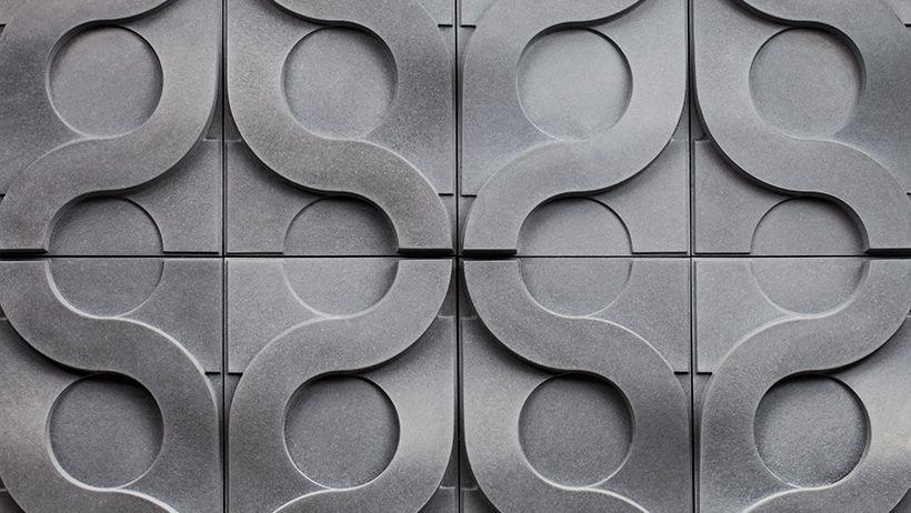 Vine Concrete Tile By Gillian Blease Remash Tumblr 3d Wall Tiles Concrete Tiles Concrete Wall