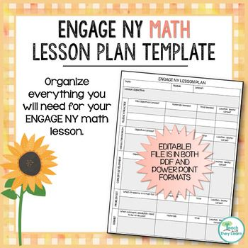 Engage Ny Math Lesson Plan Template  Editable  Engage Ny Math