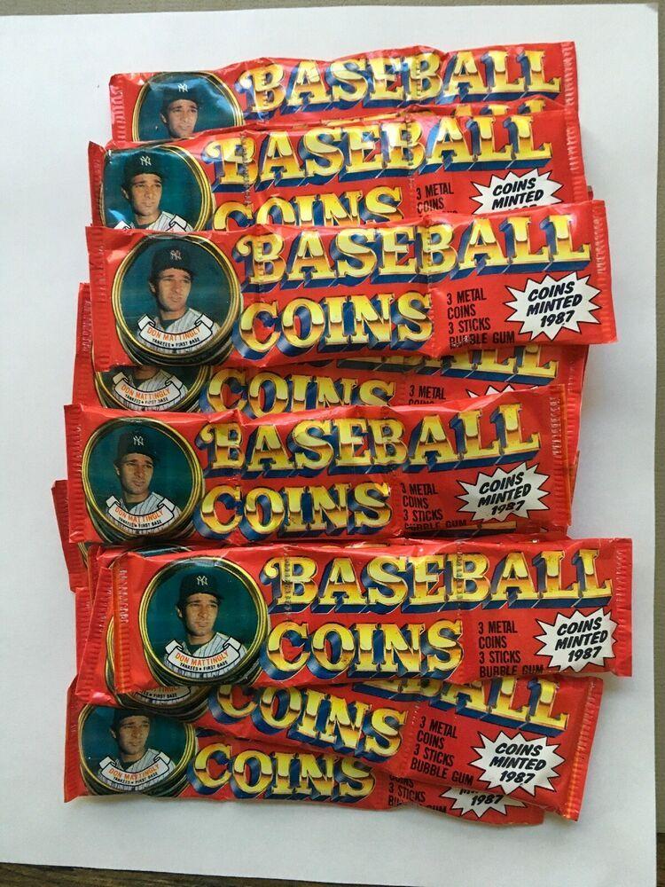 1987 topps baseball coins lot of 17 packs