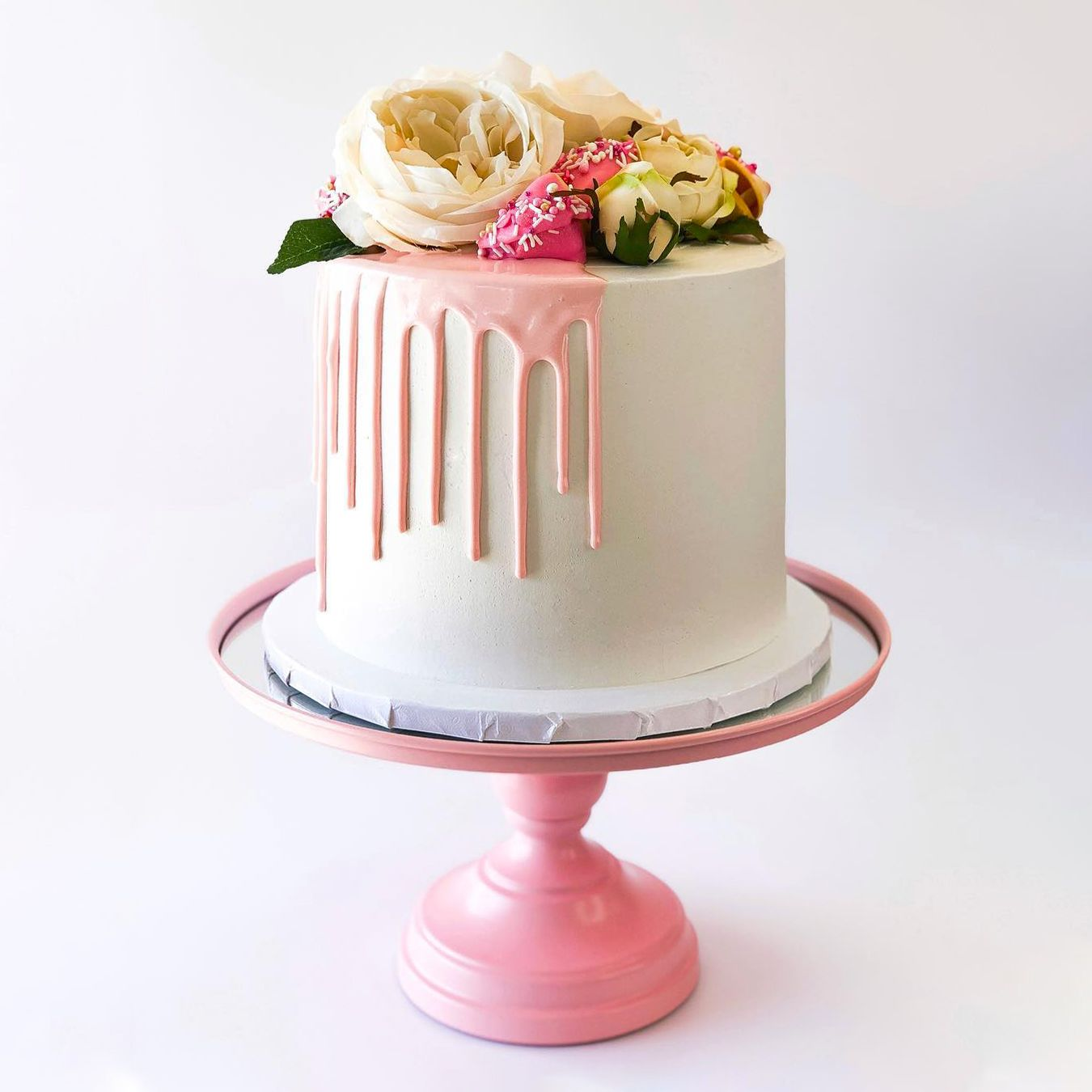 12 Inch Mirror Top Cake Stand Pink In 2020 Savoury Cake