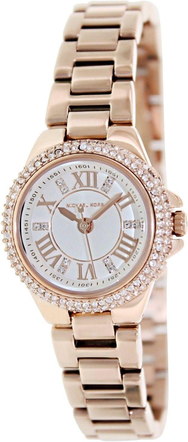 1c5cbf6ebca3 women s watches  Michael Kors crystal watches women Michael Kors Camille  White Dial Rose Gold-tone Ladies Watch MK3253