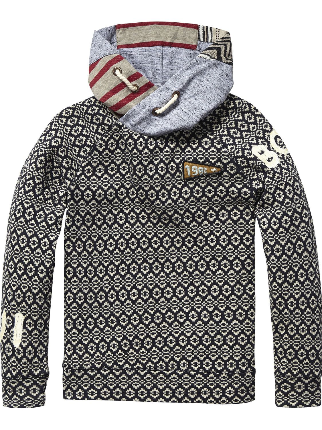 Mix & Match Hooded Sweater | sweat | Boys Clothing at Scotch & Soda
