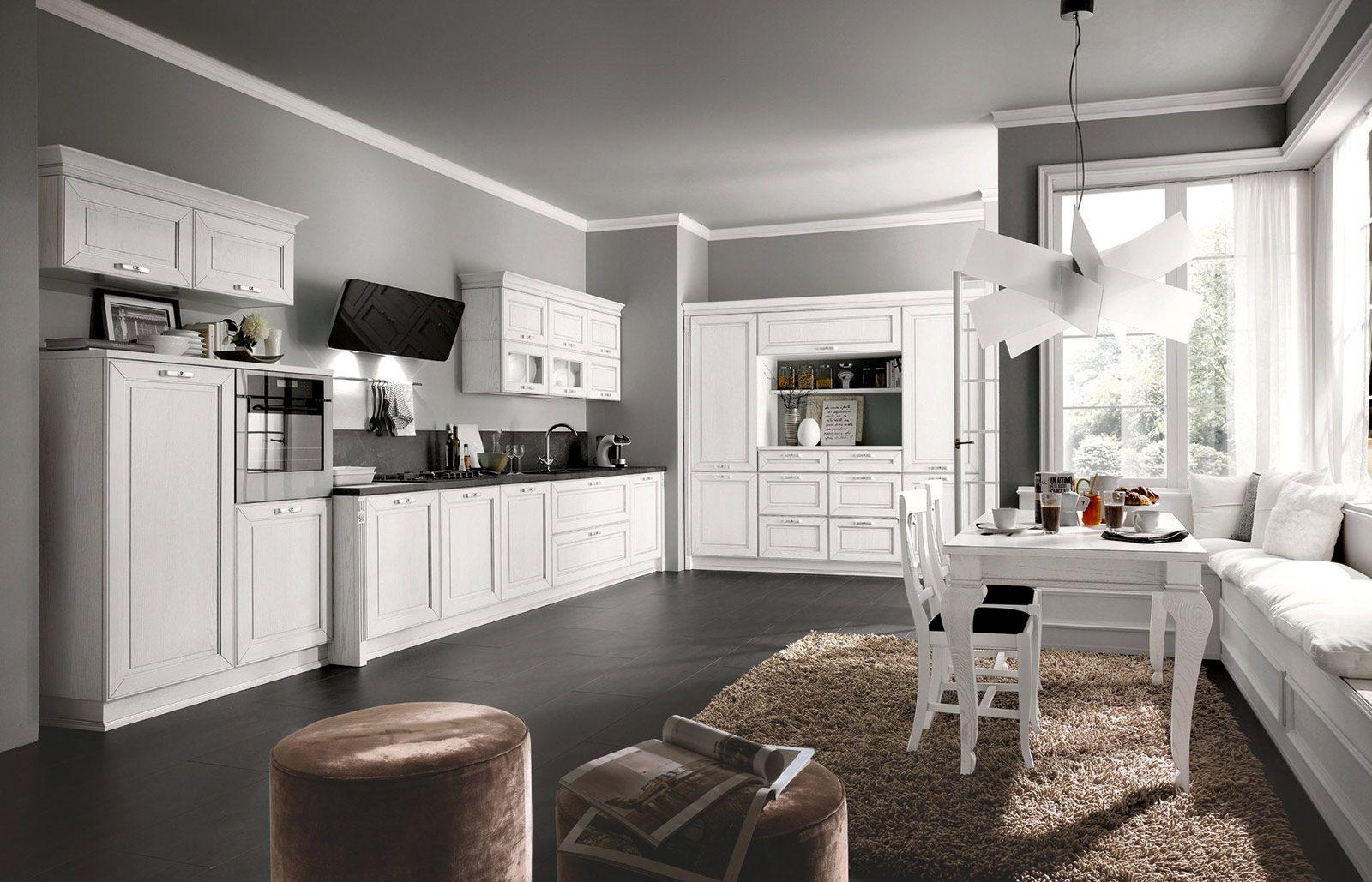 Cucina: la voglio tutta bianca | Progetti di cucine, Cucine ...